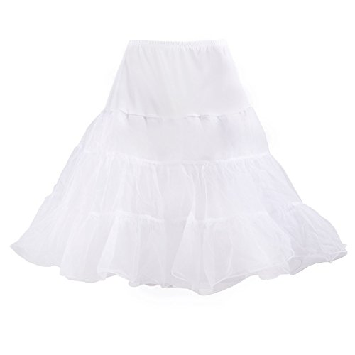 HDE Women's Petticoat Vintage Slip Rockabilly Swing Dress Underskirt Tutu Skirt