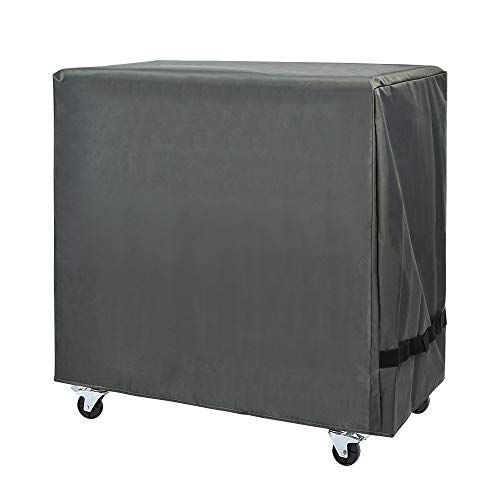 Cooler Cart Cover - Universal Fit for Most 80 QT,Waterproof Thickened Fabric,Rolling Cooler (Patio Cooler,Beverage Cart, Rolling Ice Chest) Protective Cover (Grey) (Rolling Cart With Cover)