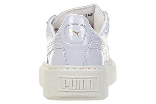Puma Basket Femme Blue halogen Sneakers Basses Wn's Patent Blue Bleu Platform Halogen rrqwZx4Oan