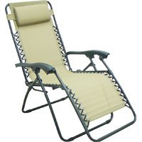 Nice Zero Gravity Beige Relaxer Lounge Chair With Head Rest