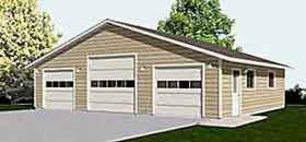 Garage plans three car garage with high center bay and for 3 bay garage cost