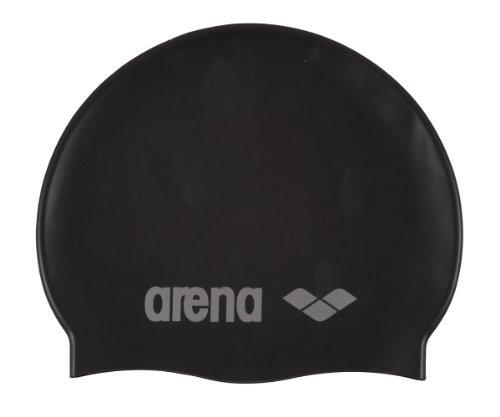 arena Kinder Badekappe Classic Silicone, black, 91670