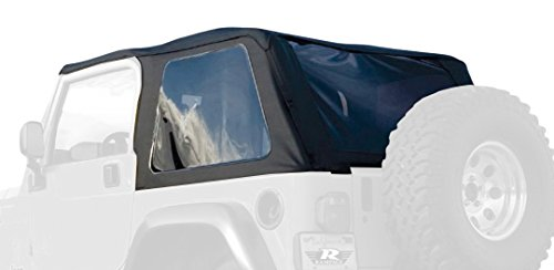 Wrangler Jeep Top 01 (RAMPAGE PRODUCTS 109735 Frameless Trail Top for 1997-2006 Jeep Wrangler, Black Diamond Sailcloth w/Tinted Windows)