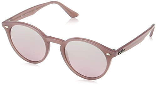 Ray-Ban INJECTED MAN SUNGLASS - OPAL ANTIQUE PINK Frame PINK MIRROR SILVER GRAD Lenses 51mm - Rb2180