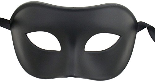 black eye mask for Halloween and mardi gras costumes