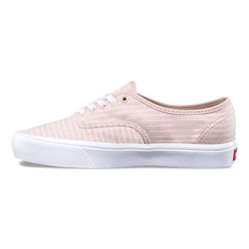 Vans Unisex Authentic (Kendra Dandy) Skate Shoe (Stripes) Sepia Rose True White cheap sale big discount cheap sale fast delivery ABLwM7x