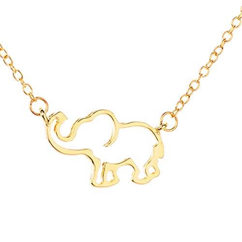 Cewtolkar Women Pendant Clavicle Chain Mascot Necklace Girlfriend Jewelry Birthday Pendant Anniversary Necklace (Gold)