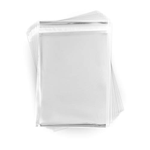 9 x 12 Inch Crystal Clear Plastic Cello Bags (200 Pack) - Resealable Cellophane Sleeve with Self Adhesive Flap - Store Greeting Cards, Photos, Letters - USPS Mailer (1.6 Mil Thick) CELLO09X12CL200