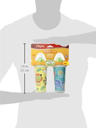 Playtex Playtime Insulator Straw Cup, 9 oz, 2 ct by Playtex (Image #5)