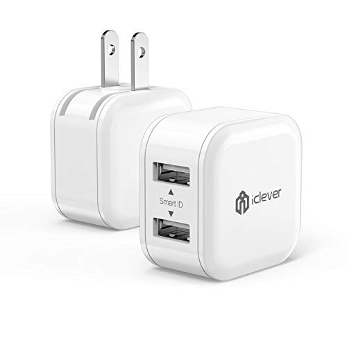 iClever BoostCube Mini 2-Pack 12W Dual USB Wall Charger Univ