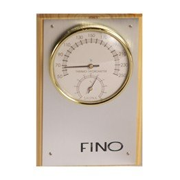 One Dial Sauna Thermometer Hygrometer Vertical in Stainless Steel