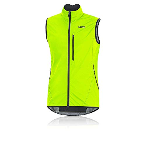 GORE Wear C3 Men's Vest GORE WINDSTOPPER, L, Neon Yellow/Black