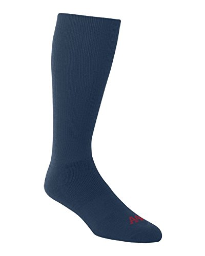 Navy Blue Large A4 Performance Tube Sports Socks