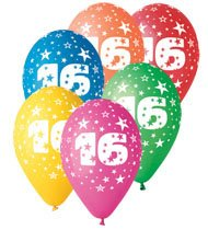 Happy Birthday Balloons 16th 10pcs Per Pack Amazoncouk Toys