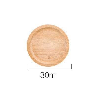 Decorative Serving Tray - Japan Style Round Wooden Tray Beech Wood Decoration Tea Trays Food Fruit Cutlery Pizza Serving Tray No Paint No Wax - Cutlery Tray Beechwood