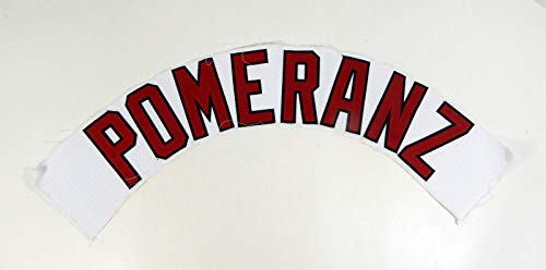 Portland Sea Dogs Drew Pomeranz Game Used White Jersey Name Plate - MLB Game Used