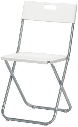 Porta Sedie Pieghevoli Ikea.Gunde Sedia Pieghevole Colore Bianco K Hagberg M Hagberg
