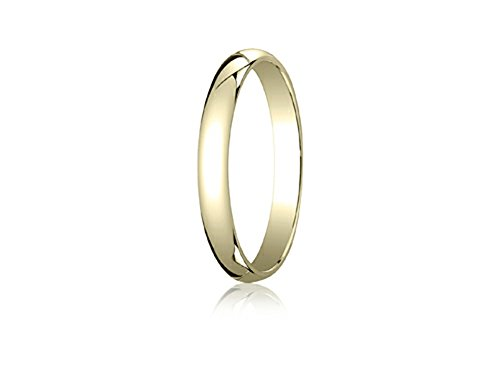 14k Gold 3.0mm Traditional Dome Oval Ring Size 5.5