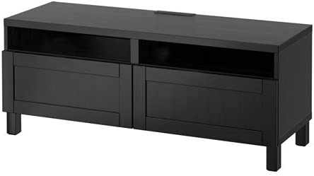 Ikea Mueble TV con cajones de Cierre Suave, Hanviken Negro-Marrón 4202.20511.2230: Amazon.es: Juguetes y juegos