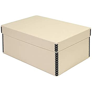 Lineco Tan Photo Snapshot Box Removable Lid 4 x 6 x 12