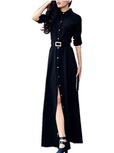 Buy belted maxi shirt dress - 7