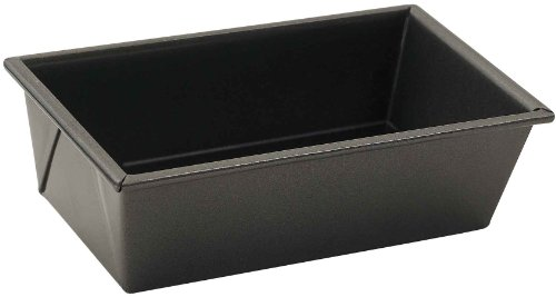 (Winco HLF-100 Non-Stick Loaf Pan, 1 Pound, Aluminized Steel, 1, Black)