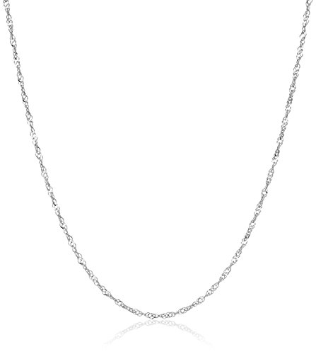 weight Singapore Chain 0.9mm Chain Necklace, 20
