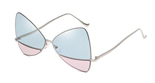 Poudre Bleue lunettes retro soleil en rond cercle Lennon vintage de Transparente style du inspirées métallique polarisées wOZ4Sqw