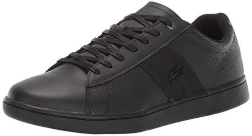 Lacoste Men's Carnaby EVO Sneaker, Black, 9 Medium US (Black Lacoste Shoes 9)