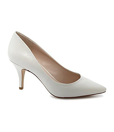 Bcbgeneration Womens Ollee Pump White Clear Kid White Clear Kid