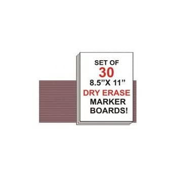 NEOPlex Student Laptop Dry Erase Marker Board - Set of 30