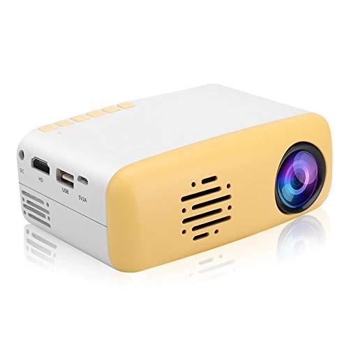 Denash Super Mini Projektor, Tragbare Süße Gelbe LED HD 1080P Projektor Unterstützung Smartphone PC Laptop USB-Stick für…
