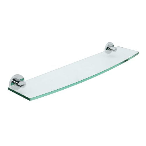 Gatco 4686 Channel Glass Shelf, Chrome (Channel Glass Bath)