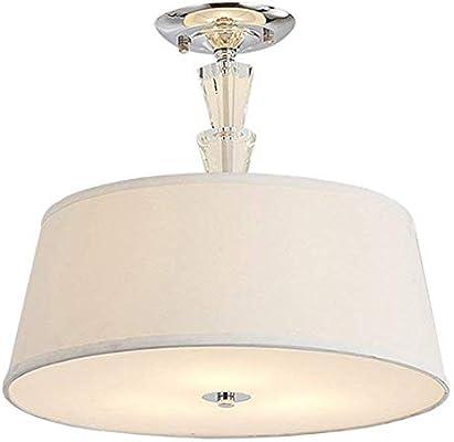 Lámpara de techo de tela Lámpara de techo moderna simple E27 ...