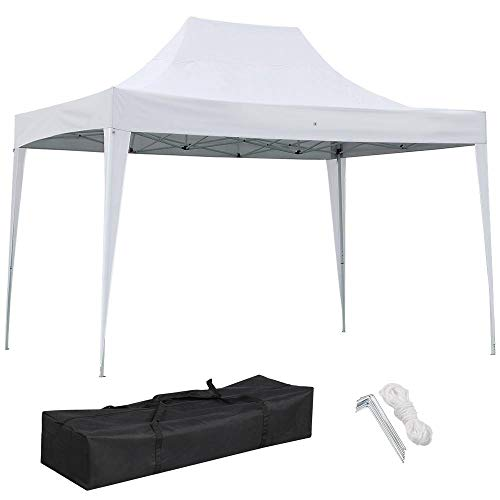 Yaheetech Heavy Duty 10 x 15 FT Portable Pop Up Canopy Tent - Folding Waterproof Commercial Instant Shelter Outdoor Event Wedding Party with Carry Bag