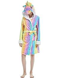 acd6678dd9 Songsongbear Women Unicorn Bathrobe Hooded Pajamas Sleepwear Halloween Xmas  Gift