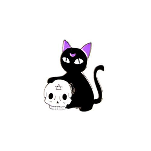 LJSLYJ Enamel Lapel Pin Set Badge Pins for Women Girls Backpacks Jackets,Black Cat ()