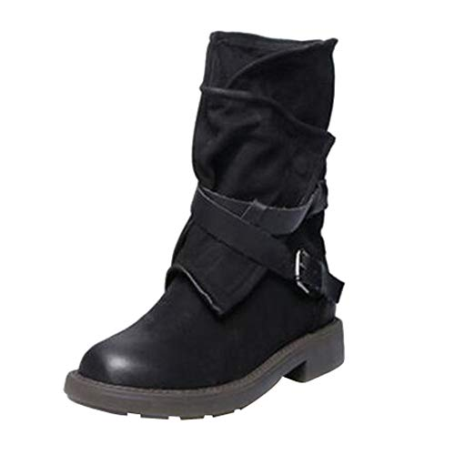 LHWY 2018 Fashion Medium Military Boots Mid Calf Army Women Artificial Leather Shoes Outdoor Polo Hiking Autumn Winter Black