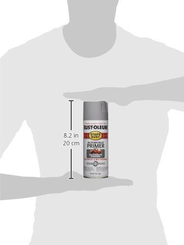 020066208189 - Rust-Oleum 2081830 Stops Rust Spray Paint, 12-Ounce, Flat Light Gray Auto Primer carousel main 3