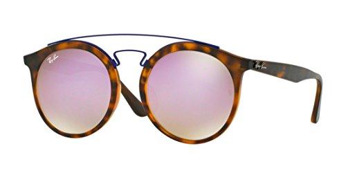 Ray-Ban RB4256F Sunglasses Matte Havana / Mirror Gradient Lillac 52mm