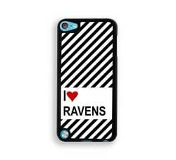 Love Heart Ravens iPod Touch 5 Case - Fits ipod 5/5G