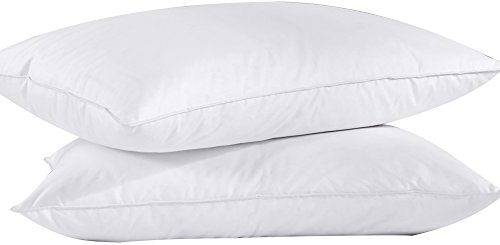 (puredown Feather Down Bed Pillow for Sleeping White Set of 2 King Size)