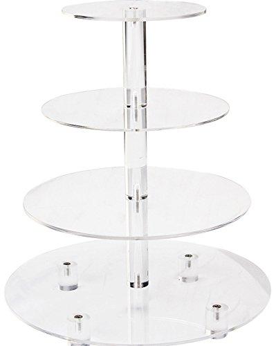 Wedding Cake Cupcake Tower Dycacrlic Tiers Round Acrylic Large