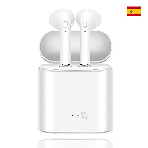 TorreCinco Mini Auriculares Bluetooth inalambricos Headset i7S Pro TWS Inalambricos con Caja de Carga Cascos HiFi para iPhone X 8 8 Plus 7 7 Plus 6S Soporte ...