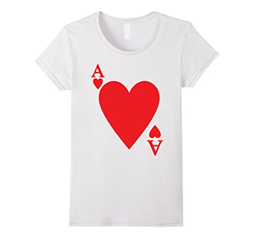 Womens Deck Of Cards Halloween Costume Ace Of HEART Matching Friend XL (Deck Of Cards Costume)