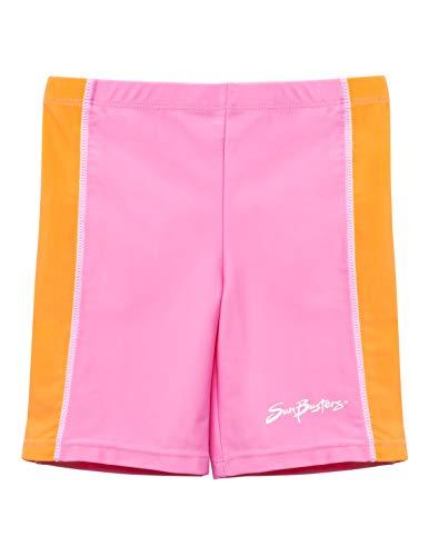SunBusters Girls Swim Shorts(UPF 50+), Pink Bloom, 2/3 yrs