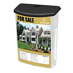 Deflecto 790901 Outdoor literature display box, clear with black lid, 10w x 4-1/2d x 13-1/8h