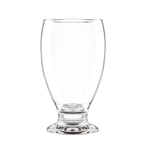Stub Stem Water Glass Goblet 11.75 Oz, Set of 4 (Clear)