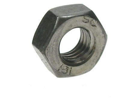 Z/P Hexagonal (Hex) Full Nuts Grade 1 Zinc Plated 3/8' UNC (Pack of 10 nuts) BZP Steel