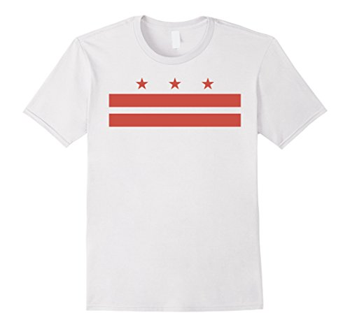 Men's District of Columbia Washington D.C. state Flag USA T Shirt Medium White